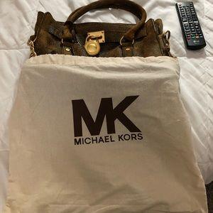 "Michael Kor's Distressed Hamilton Mocha *New"" L"